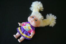 CPK Doll MINI Blonde Yarn Braids Small Cabbage Patch Kid Baby Toy 1987 Dress