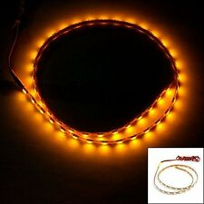 45 LED SMD Decorative Flexible Light Strip Bar Yellow 45cm for Car and Bike