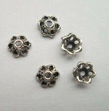 100pcs beautiful Tibet silver Flower End Beads Caps 2.5x6mm