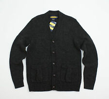 $148 RUGBY RALPH LAUREN RRL CLASSIC WOOL CARDIGAN SWEATER DARK GREY SIZE : XS