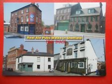 POSTCARD YORKSHIRE SHEFFIELD PUBS - FAT CAT - GARDENERS REST - THE MILESTONE - K