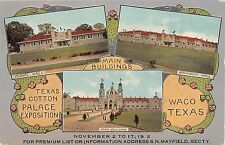 1912 Texas Cotton Palace Exposition Waco TX multi view post card