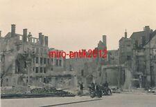 Foto, Der Weg der 1.A.R.35, Was noch übrig ist von Ostende, Besichtigung 1940