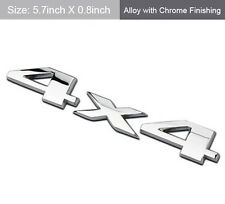 Silver Chrome 4X4 Auto Car Logo Decal Emblem Sticker for JEEP Dodge Ford Truck