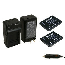 2 Battery & Charger For Panasonic DMW-BCH7 BCH7PP BCH7E DMC-FP1 DMC-FP2 DMC-FP3