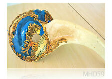 Mask Carnival VENETIAN Blue Gold ITALY Authentic RARE 1982 ORIGINAL COLLECTIBLE