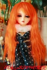 "Brand new 8-9"" 1/3 dollfie BJD SD LUTS hair wig orange 26-6#"