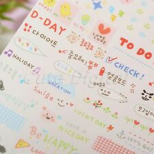 Cute Word Letter Expression Paper Stickers Scrapbook Calendar Diary Album Decor