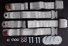 1955-1972 CHEVROLET GMC PICKUP TRUCK VINTAGE RETRO CHROME GREY SEAT BELTS 2 SETS