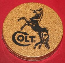 COLT Firearms Cork Coaster set of 4 mint in Plastic