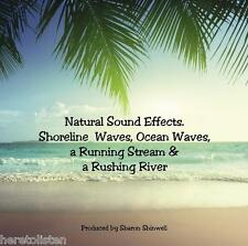 Natural Sound Effects CD. Includes Ocean Waves, Streams, Rushing Rivers (Unique)