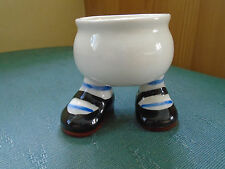 VINTAGE WALKING WARE EGG CUP - BLACK & BROWN SHOES - CARLTON LUSTRE WARE