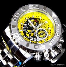 Invicta Sea Hunter III Yellow 70mm Full Sized Swiss Steel Chronograph Watch New