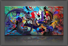 Oil Painting on Canvas Art Large Abstract Picture Wall Decor 24x48'' (No Frame)