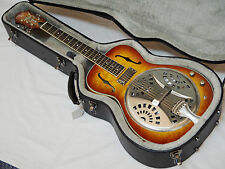 MICHAEL KELLY Bayou E Acoustic/E RESONATOR slide guitar w/ CASE - Hickory Sunset