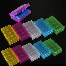 10Pcs Hard Plastic Battery Case Holder Storage Box For 2x 18650 16340 CR123A
