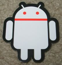 "ANDROID DROID Red White robot logo Sticker 2.5"" Google andrew bell"