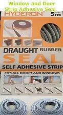 Self Adhesive Home Window Door Draught Rubber Brush Pile Excluder Seal Strip 5M