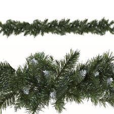 Natale DECORAZIONE PER SOGGIORNO Ghirlande artificiali 9ft 180 Punte-Snowy