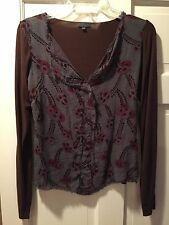 Left of Center Anthropologie Urban Outfitters Long Sleeve Top M