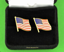 Patriotic Waving American Flag Cufflinks  USA