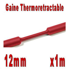 Gaine Thermo Rétractable 2:1 - Diam. 12 mm - Rouge - 1m