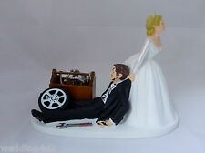 Wedding Reception Race Car Truck Mechanic Tools Grease Cake Topper Shop Garage
