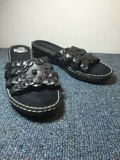 Aerosoles Size 7 Slip On Sandals Black Leather Slides What's What