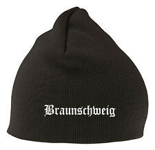 Braunschweig Mütze Beanie - Edel Bestickt - Stitch - Bundesliga Fussball Fan