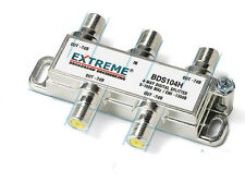 2 NEW Extreme Broadband BDS104H 4-way Digital High Perform Coax Cable Splitter