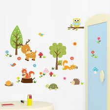 Animals Jungle Tree owl Squirrel PVC kids room decor wall decals Wall sticker