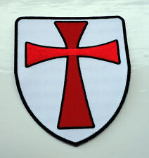 P2 Knights Templar Shield Iron on Patch Crusader St George Biker Crusade Cross