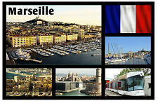 MARSEILLE, FRANCE - SOUVENIR NOVELTY FRIDGE MAGNET - SIGHTS / TOWNS - NEW