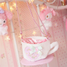 Kawaii Japanese Lolita Sweet Coffee cup Lace Bow Messenger Bag Satchel Handbags