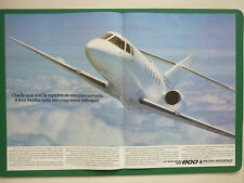 11/1983 PUB BRITISH AEROSPACE AVION BAe 125-800 BUSINESS JET ORIGINAL FRENCH AD
