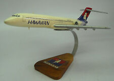 Boeing B717 Hawaiian Airlines 717 Airplane Desk Display Wood Model Small