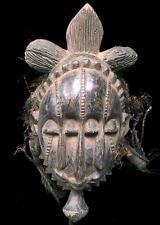 Antiguo Tribal Baule mblo 4 Ojos Máscara --- COTED 'Ivoire BN 35