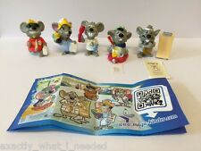 KINDER Surprise Mouse MEDICI LIMITED EDITION SERIE COMPLETA DI 5 Cina 2014 RARA