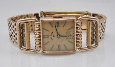 Vintage Lord Elgin 14K Gold Filled Driver's Watch Manual Wind For Parts/Repair