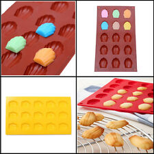 Silicone 15-Cavity Madeleine Shell Cake Pan Mold Cookies Chocolate Baking Mould