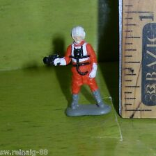 STAR WARS Micro Machines REBEL X-WING Rogue Yavin PILOT Figure #1 Galoob 1996