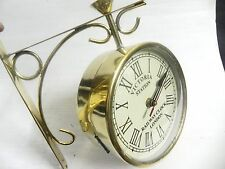 VICTORIA ~ STATION ~ RAILWAY BRASS CLOCK LONDON DOUBLE ~ SIDE ~ CLOCK 8 INCHES