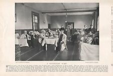 1897 ANTIQUE MILITARY PRINT-HASLAR HOSPITAL,PENSIONERS WARD