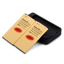 2X BATTERIA 4200Mah per SAMSUNG GALAXY S5 SM-G900F+ CARICA USB RETE TAVOLO