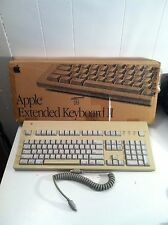 Apple Extended Keyboard Mac Macintosh IIGS WORKING plus original box, cable