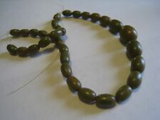 Lot Of Vintage Graduated Olive/Butterscotch Swirl Bakelite Beads For Restringing