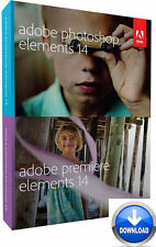 Adobe Photoshop and Premiere Elements 14 Mac/Win  2 PC's Download Version