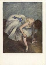 Alte Kunstpostkarte - Edgar Degas - Danseuse nouant son brodequin
