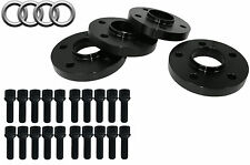 (2) 15mm & (2) 20mm Audi Wheel Spacers Kit 5x112 Fits: A4, S4, A5 & S5 2009-2014