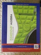 Elementary Algebra Bracken/Miller 2014 Instructor's Ed ISBN-10: 0-618-95151-2